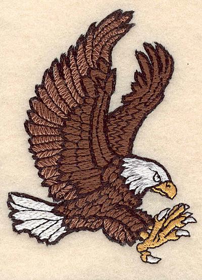 """Embroidery Design: Eagle small 2.47""""w X 3.35""""h"""