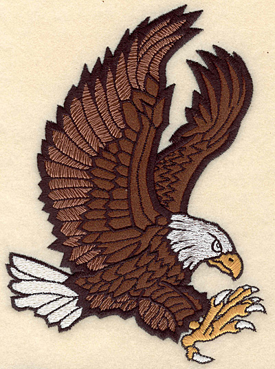 "Embroidery Design: Eagle medium applique 5.00""w X 6.86""h"
