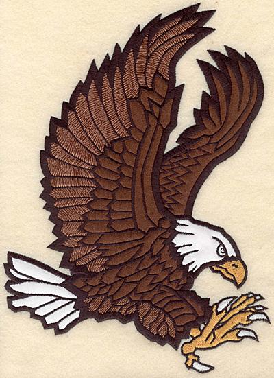 "Embroidery Design: Eagle large double applique 7.54""w X 10.30""h"