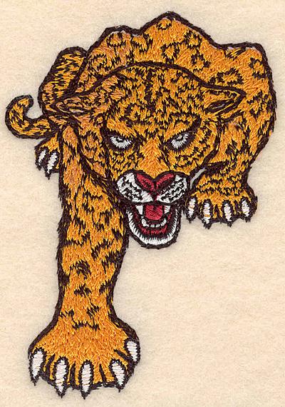 "Embroidery Design: Leopard small 2.61""w X 3.82""h"
