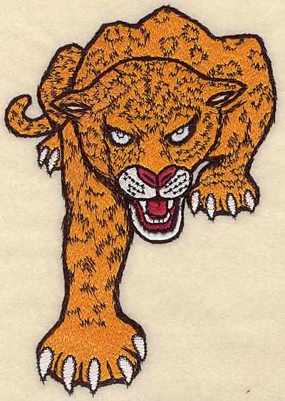 "Embroidery Design: Leopard medium 4.78""w X 6.99""h"