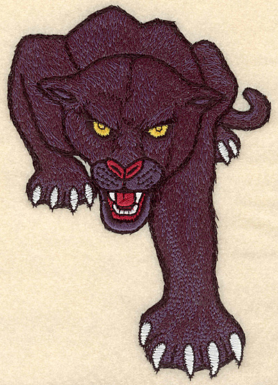 """Embroidery Design: Panther medium 4.83""""w X 6.99""""h"""
