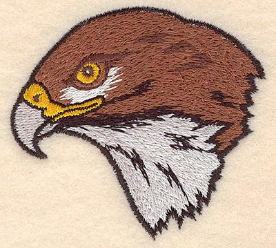 """Embroidery Design: Hawk Head small 3.09""""w X 2.81""""h"""