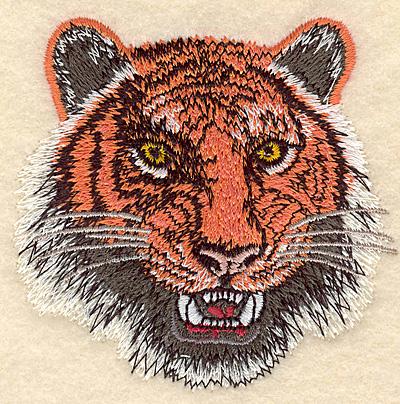 """Embroidery Design: Tiger Head small 3.05""""w X 3.06""""h"""