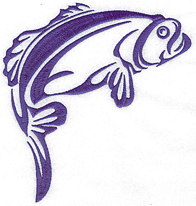 Embroidery Design: Game Fish 1 large 6.48w X 6.94h