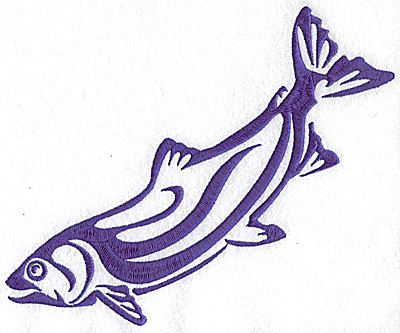 Embroidery Design: Game Fish 2 large  8.60w X 6.89h
