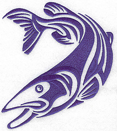 Embroidery Design: Game Fish 5 large 6.06w X 3.96h