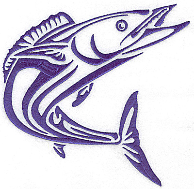 Embroidery Design: Game Fish 6 large 7.03w X 6.96h