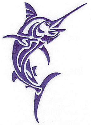 Embroidery Design: Game Fish 7 large 4.75w X 6.96h