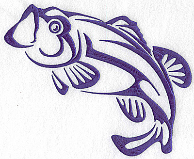 Embroidery Design: Game Fish 9 large 8.38w X 6.94h