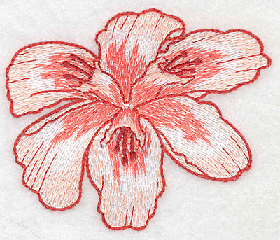 "Embroidery Design: Lily bloom small Realistic  3.03""h x 3.65""w"