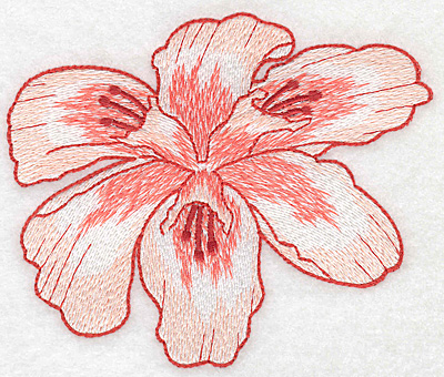 """Embroidery Design: Lily bloom large Realistic  4.16""""h x 5.01""""w"""