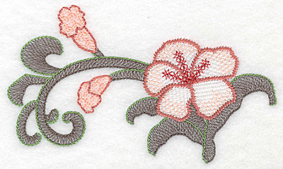 """Embroidery Design: Lily large Artistic  3.36""""h x 5.83""""w"""