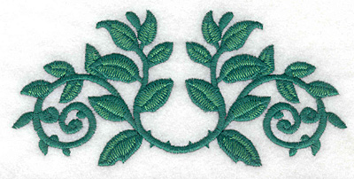 Embroidery Design: Rose leaves curved large5.81w X 2.73h
