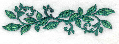 Embroidery Design: Rose leaves straight small3.87w X 1.13h