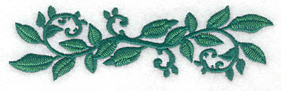 Embroidery Design: Rose leaves straight large 5.83w X 1.70h