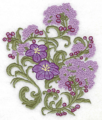 Embroidery Design: Spring Blooms A realistic 4.94w X 6.00h