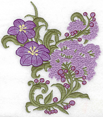 Embroidery Design: Spring Blooms C realistic large 6.11w X 6.93h