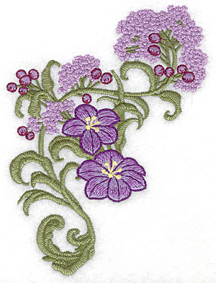 Embroidery Design: Spring Blooms D realistic 4.02w X 5.58h