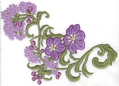 Embroidery Design: Spring Blooms E realistic 8.36w X 6.02h