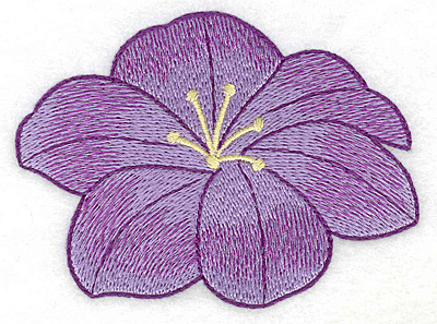 Embroidery Design: Floral bloom realistic large 3.77w X 2.80h