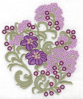 Embroidery Design: Spring Blooms A artistic 4.99w X 6.13h