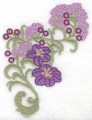 Embroidery Design: Spring Blooms D artistic 4.06w X 5.59h