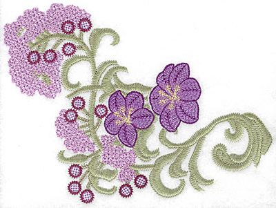 Embroidery Design: Spring Blooms E artistic 8.38w X 6.08h