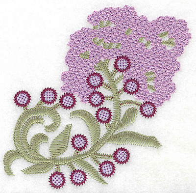 Embroidery Design: Lilac Bloom artistic large 4.90w X 4.99h