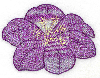 Embroidery Design: Floral bloom artistic large 3.75w X 2.79h