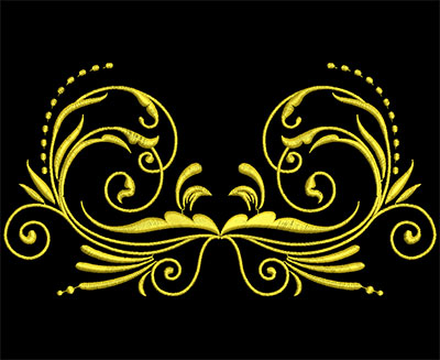 Embroidery Design: Golden Strokes 1 Large 7.19w X 3.88h