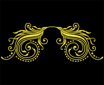 Embroidery Design: Golden Strokes 2 Large 7.79w X 2.97h