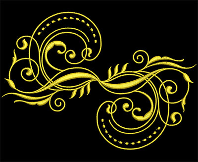 Embroidery Design: Golden Strokes 3 Large 7.61w X 5.40h