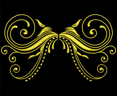 Embroidery Design: Golden Strokes 4 Large 7.34w X 4.28h