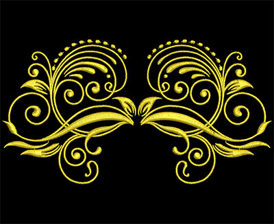Embroidery Design: Golden Strokes 5 Large 7.26w X 3.90h