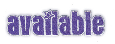 """Embroidery Design: Available3.76"""" x 1.06"""""""