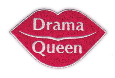 "Embroidery Design: Drama Queen3.47"" x 2.14"""