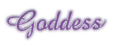 "Embroidery Design: Goddess3.86"" x 1.19"""