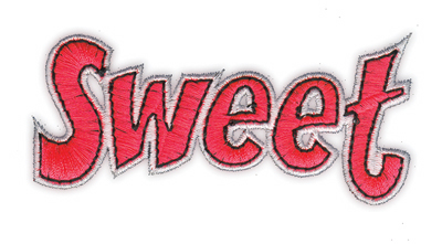 """Embroidery Design: Sweet3.48"""" x 1.62"""""""