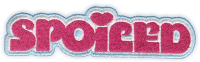 """Embroidery Design: Spoiled4.46"""" x 1.22"""""""