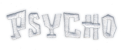 """Embroidery Design: Psycho4.21"""" x 1.21"""""""