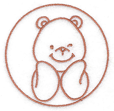 Embroidery Design: Bear smiling small 3.12w X 3.12h