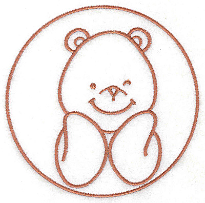 Embroidery Design: Bear smiling large 4.36w X 4.36h