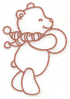 Embroidery Design: Bear with ball small 2.64w X 3.81h