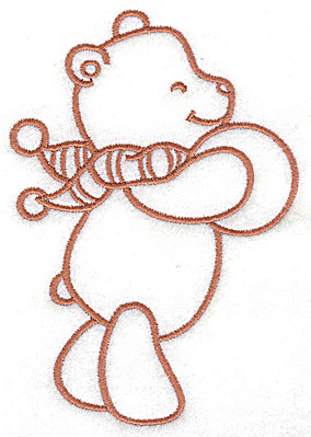 Embroidery Design: Bear with ball large 3.43w X 4.96h