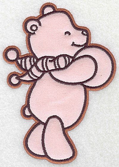 Embroidery Design: Bear with ball applique 4.27w X 6.10h