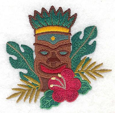 "Embroidery Design: Tiki small  3.31""h x 3.39""w"