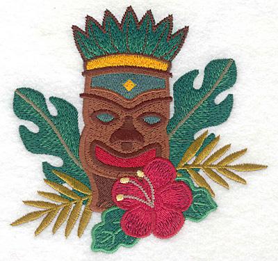 "Embroidery Design: Tiki medium  4.94""h x 5.09""w"