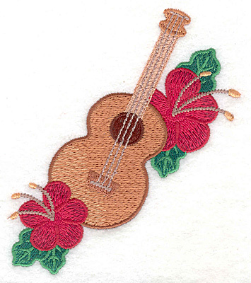 "Embroidery Design: Ukulele small  4.57""h x 3.96""w"