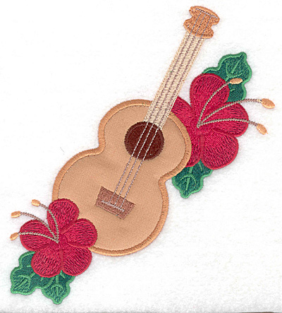 "Embroidery Design: Ukulele large applique  6.85""h x 5.94""w"